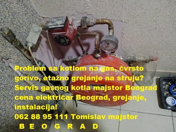 Servis gasnog kotla majstor Beograd cena