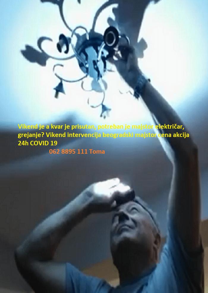 Vikend intervencija beogradski majstor cena akcija 24h COVID 19