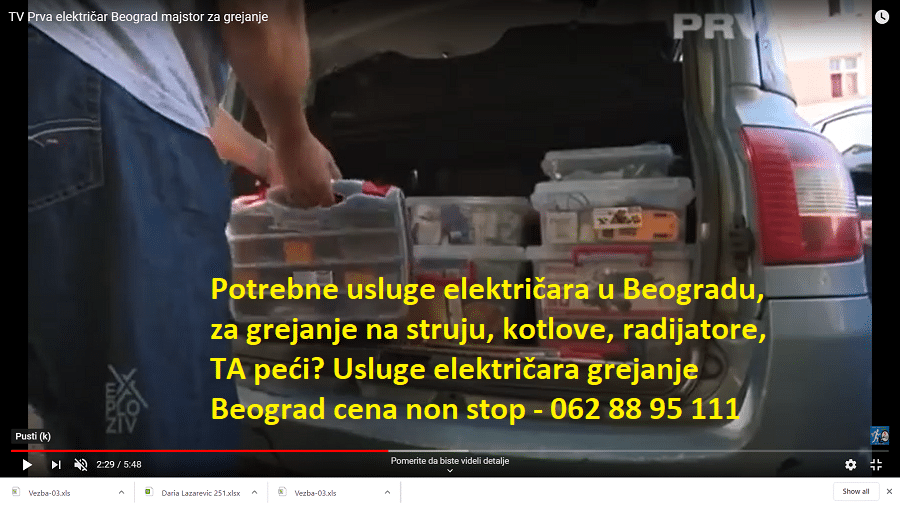 Usluge električara grejanje Beograd cena non stop