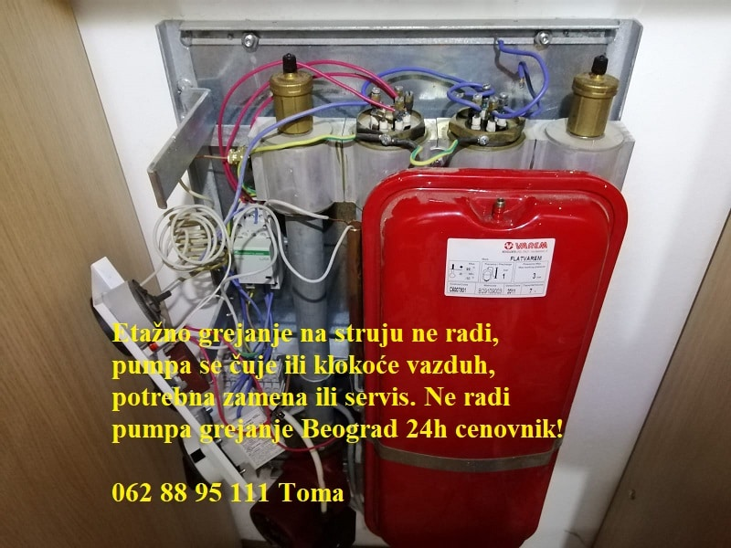 Ne radi pumpa grejanje Beograd 24h cenovnik!